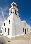 A church on the island of Therasia on Santorini, Greece.