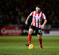 Lincoln City's Neal Eardley<br /> <br /> Photographer Chris Vaughan/CameraSport<br /> <br /> The EFL Sky Bet League Two - Lincoln City v Cheltenham Town - Tuesday 13th February 2018 - Sincil Bank - Lincoln<br /> <br /> World Copyright &copy; 2018 CameraSport. All rights reserved. 43 Linden Ave. Countesthorpe. Leicester. England. LE8 5PG - Tel: +44 (0) 116 277 4147 - admin@camerasport.com - www.camerasport.com