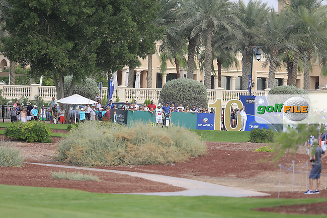 Rafa Cabrera Bello (ESP) on the 10th tee during the 3rd round of the DP World Tour Championship, Jumeirah Golf Estates, Dubai, United Arab Emirates. 17/11/2018<br /> Picture: Golffile | Fran Caffrey<br /> <br /> <br /> All photo usage must carry mandatory copyright credit (&copy; Golffile | Fran Caffrey)