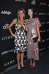 Nicole Purcell (left) and Michelle Lee arrive at the 2017 Clio Awards in The Tent at Lincoln Center in New York City on September 27, 2017.