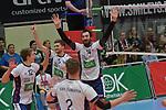 17.01.2018,  Lueneburg GER, VBL, SVG Lueneburg vs Bergische Volleys Solingen im Bild die Mannschaft von Lueneburg jubelt/ Foto © nordphoto / Witke