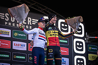 Podium:<br /> Men U23 winner Thomas Pidcock (GBR/TP Racing) and Elite Men's winner Toon Aerts (BEL/Telenet Baloise Lions)<br /> <br /> CX Superprestige Zonhoven (BEL) 2019<br /> Elite & U23 mens race