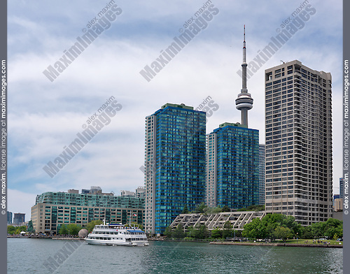 Luxury condos at Toronto Harbourfront. Ontario, Canada.
