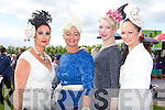 Ann Kahraman Ballyheigue, Olivia Wall Tralee, Victoria Tynan Ballymac and Norma Foley Killarney the style council at the Killarney Races on Saturday