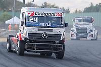 German driver Andre Kursim belonging German team Tankpool 24 Racingduring the fist race R1 of the XXX Spain GP Camion of the FIA European Truck Racing Championship 2016 in Madrid. October 01, 2016. (ALTERPHOTOS/Rodrigo Jimenez) /NortePHOTO /NORTEPHOTO.COM