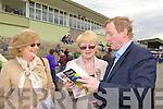 Rita Farrell and Eileen Kiely Killarney gets a tip from Enda Kenny at Killarney Races on Sunday