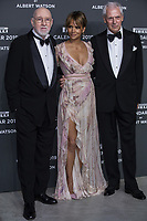 "Marco Tronchetti Provera (Pirelli's President), Halle Berry, Albert Watson attend the gala night for official presentation of the Presentation of the Pirelli Calendar 2019 ""The cal"" held at the Hangar Bicocca. Milan (Italy) on december 5, 2018. Credit: Action Press/MediaPunch ***FOR USA ONLY***"