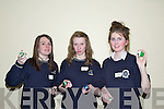 Shannon Boyle, Aoife Sugrue from Colaiste na Sceilge and Sarah Rath from Presentation, Tralee.