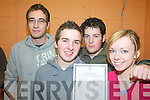 EXAMS: Digesting their Leaving Cert results at Presentation Secondary School in Milltown on Wednesday morning were, l-r: Philip O'Sullivan (Kilcummin), David Power (Killarney), Toma?s O'Donoghue (Killarney), Maria O'Shea (Milltown).   Copyright Kerry's Eye 2008