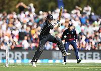 Kane Williamson batting.<br /> New Zealand Blackcaps v England. 5th ODI International one day cricket, Hagley Oval, Christchurch. New Zealand. Saturday 10 March 2018. &copy; Copyright Photo: Andrew Cornaga / www.Photosport.nz