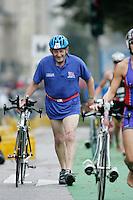 02 SEP 2007 - HAMBURG, GER - Malcolm Bennett (GBR) - World Age Group Triathlon Championships. (PHOTO (C) NIGEL FARROW)