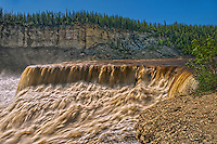 Louise Falls on the Waterfalls Route (Highway)  (Mackenzie Highway)<br /> Twin Falls Gorge Territorial Park<br /> Northwest Territories<br /> Canada