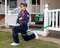 Sean Dickson of Kent warming down after the T20 friendly between Kent and the Netherlands at the St Lawrence Ground, Canterbury, on July 3, 2018