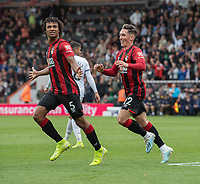 Bournemouth's Nathan Ake celebrates scoring his side's third goal but the goal was ruled out (no VAR needed)<br /> <br /> Photographer David Horton/CameraSport<br /> <br /> The Premier League - Bournemouth v West Ham United - Saturday 28th September 2019 - Vitality Stadium - Bournemouth<br /> <br /> World Copyright © 2019 CameraSport. All rights reserved. 43 Linden Ave. Countesthorpe. Leicester. England. LE8 5PG - Tel: +44 (0) 116 277 4147 - admin@camerasport.com - www.camerasport.com