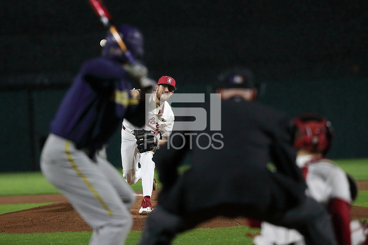 Stanford, CA - March 2, 2018:  Stanford Baseball vs Michigan in Game 1 of a 4 game series at Sunken Diamond.  Stanford won the game over Michigan, 7-0.