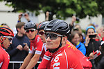 Andre Greipel (GER) Lotto-Soudal before the start of Stage 2 of the 104th edition of the Tour de France 2017, running 203.5km from Dusseldorf, Germany to Liege, Belgium. 2nd July 2017.<br /> Picture: Eoin Clarke | Cyclefile<br /> <br /> <br /> All photos usage must carry mandatory copyright credit (&copy; Cyclefile | Eoin Clarke)