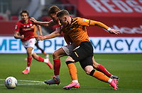 8th July 2020; Ashton Gate Stadium, Bristol, England; English Football League Championship Football, Bristol City versus Hull City; Josh Bowler of Hull City competes for the ball with Tomas Kalas of Bristol City