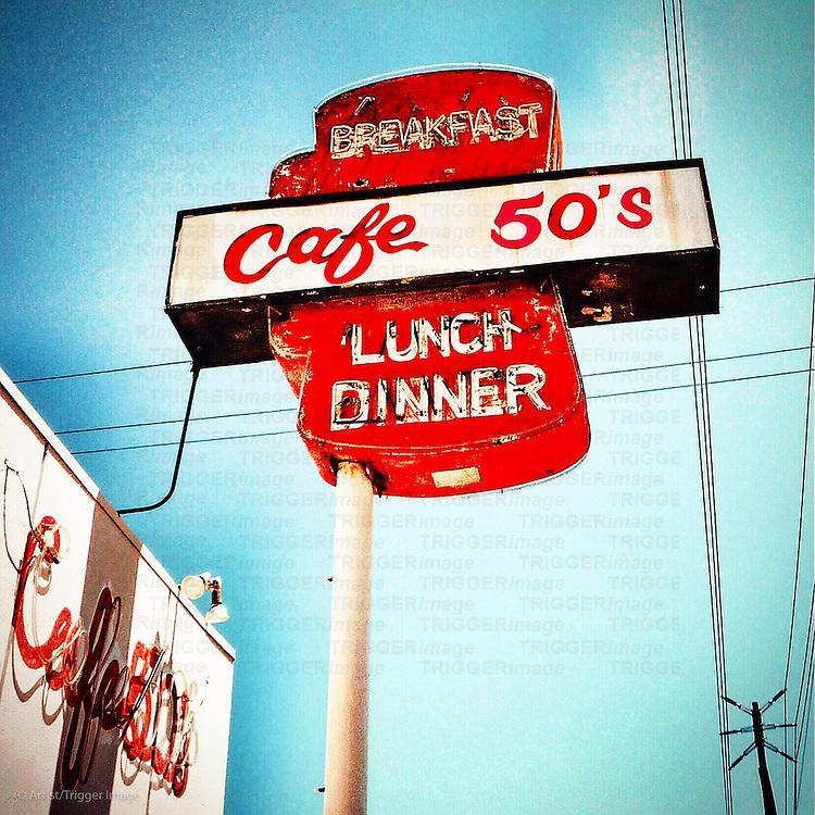 Vintage americana street signage