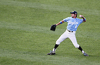 North Carolina's Chaz Frank. Vanderbilt's 5-1 win eliminated North Carolina from the College World Series in Omaha, Neb. (Photo by Michelle Bishop)..