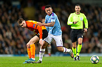 Mykola Matviyenko of Shakhtar Donetsk and Gabriel Jesus of Manchester City during the UEFA Champions League Group C match between Manchester City and Shakhtar Donetsk at the Etihad Stadium on November 26th 2019 in Manchester, England. (Photo by Daniel Chesterton/phcimages.com)