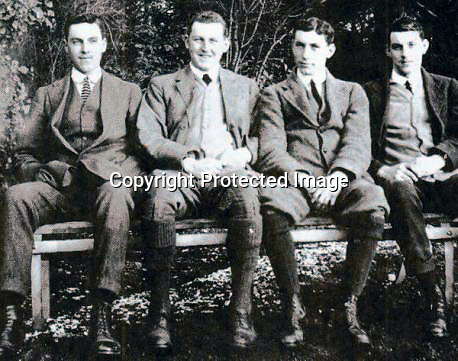 BNPS.co.uk (01202 558833)Pic: BNPS<br /> <br /> The Bradford boys... Roland, Thomas, George and James.<br /> <br /> The poignant bravery medals of the only surviving member of a 'Band of Brothers' from the First World War have sold for £8,000.<br /> <br /> Sir Thomas Bradford was one of the 'Bradford Boys' - four siblings who went on to become the most decorated family to serve in the Great War.<br /> <br /> Sadly, his three siblings were all killed in action just 11 months apart. Between them the brave quartet won two Victoria Crosses, one Distinguished Service Order and two Military Crosses.<br /> <br /> Sir Thomas's DSO medal group has sold at Dix Noonan Webb auctions for £8,000.