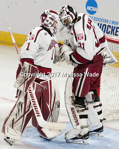 Sihak Lee (Harvard - 1), Merrick Madsen (Harvard - 31) - The Harvard University Crimson defeated the Providence College Friars 3-0 in their NCAA East regional semi-final on Friday, March 24, 2017, at Dunkin' Donuts Center in Providence, Rhode Island.