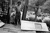 Lainici, Walachia<br /> Romania<br /> May 6, 1992<br /> <br /> Shearing sheep