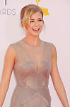 LOS ANGELES, CA - SEPTEMBER 23: Emily VanCamp arrives at the 64th Primetime Emmy Awards at Nokia Theatre L.A. Live on September 23, 2012 in Los Angeles, California.