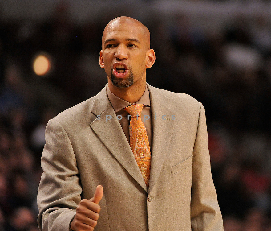 MONTY WILLIAMS, of the New Orleans Hornets, in actions during the Hornets game against the Chicago Bulls at United Center on March 7, 2011.  The Chicago Bulls won the game beating the New Orleans Hornets 85-77.