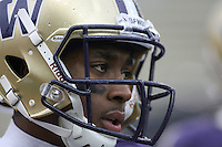 Oct 30, 20010:  Washington wide receiver #11 D'Andre Goodwin warms up before the game against Stanford.  Stanford defeated Washington 41-0 at Husky Stadium in Seattle, Washington. .