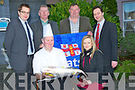 CHANGE:The launch of the New Tralee Central Hotel which was tyhe Abbey gate Hotel Tralee on Wednesday morning in conjuction with The RNLI Fenit, Mark O'Connor ()chef) and Colette Nolan (front office manager0. back l-r: David Scott (markweting manager), JP Brick (press officer) Michael O'Connor (Tralee Sailing Club /RNLI Fundraising Chairman) andDamien Mekitarian (G.M)