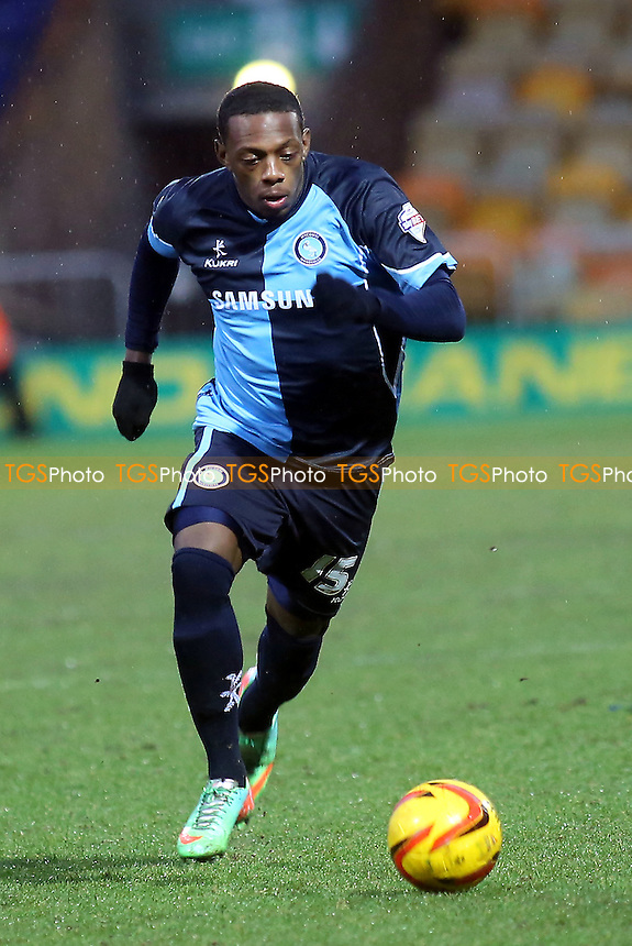 Anthony Jeffery of Wycombe races upfield - Mansfield Town vs Wycombe Wanderers - Sky Bet League Two Football at the One Call Stadium, Mansfield - 25/01/14 - MANDATORY CREDIT: Paul Dennis/TGSPHOTO - Self billing applies where appropriate - 0845 094 6026 - contact@tgsphoto.co.uk - NO UNPAID USE