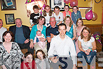 40TH BIRTHDAY: Margaret Hallissey, Kenmare (seated 2nd from left) celebrated her 40th birthday in Kirbys Brogue Inn, Tralee, last Saturday night with family and friends..