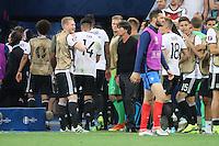 Andre Schürrle (Deutschland Germany) und Bundestrainer Joachim Loew (Deutschland Germany) verärgert beim Gang in die Kabine wegen dem Elfmeterpfiff - UEFA Euro 2016: Deutschland vs. Frankreich, Stade Velodrome Marseille, Halbfinale M50