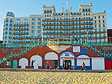 ENGLAND, Brighton, the grand Hotel from the Beach