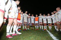Saturday 7th December 2019 | Ulster Rugby vs Harlequins<br /> <br /> Iain Henderson talks to his players after the Heineken Champions Cup Round 3 clash in Pool 3, between Ulster Rugby and Harlequins at Kingspan Stadium, Ravenhill Park, Belfast, Northern Ireland. Photo by John Dickson / DICKSONDIGITAL