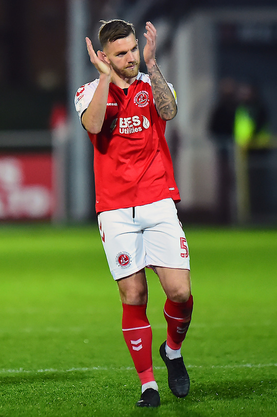 Fleetwood Town's Ashley Eastham applauds the fans<br /> <br /> Photographer Richard Martin-Roberts/CameraSport<br /> <br /> The EFL Sky Bet League One - Fleetwood Town v Portsmouth - Saturday 29th December 2018 - Highbury Stadium - Fleetwood<br /> <br /> World Copyright © 2018 CameraSport. All rights reserved. 43 Linden Ave. Countesthorpe. Leicester. England. LE8 5PG - Tel: +44 (0) 116 277 4147 - admin@camerasport.com - www.camerasport.com