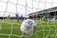 Joe Rothwell of Oxford United (18) scores his team's third goal of the game to make the score 1-3 during the Sky Bet League 1 match between Peterborough and Oxford United at the ABAX Stadium, London Road, Peterborough, England on 30 September 2017. Photo by David Horn.