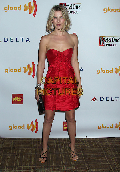 Ali Larter.23rd Annual GLAAD Media Awards held at the Westin Bonaventure Hotel, Los Angeles, California, USA..April 21st, 2012.full length red strapless dress.CAP/ADM/RE.©Russ Elliot/AdMedia/Capital Pictures.