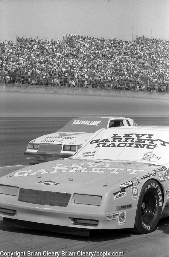Geoff Bodine's car Daytona 500 at Daytona International Speedway in Daytona Beach, FL in February 1985. (Photo by Brian Cleary/www.bcpix.com) Daytona 500, Daytona International Speedway, Daytona Beach, FL, February 1985. (Photo by Brian Cleary/www.bcpix.com)