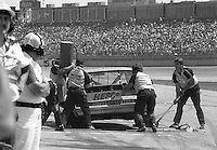 Bosco Lowe pits pit stop 17th place finish Winston 500 at Alabama International Motor Speedway in Talladega , AL on May 5, 1985. (Photo by Brian Cleary/www.bcpix.com)