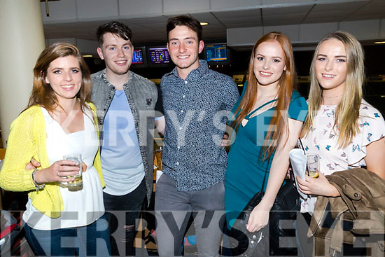 Jean Farrell, Jamie Quirke, Shane Scanlon, Maeve Dalton and Maeve Hartnett, pictured at the Annascaul GAA fundraiser Night at the Dogs at the Kingdom Greyhound Stadium, Tralee on Saturday night last.
