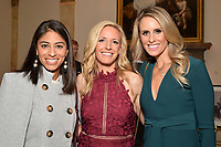 New York City, NY - MAY 23: (L-R) Chritina Unkel, Rules Analyst, Aly Wagner, Lead WWC Match Analyst, and Leslie Osborne, Studio Analyst, attend the Fox Sports FIFA Women's World Cup Send-off at the Consulate General of France in New York City. (Photo by Anthony Behar/Fox Sports/PictureGroup)