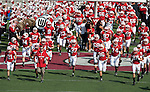 September 19, 2009: Wisconsin Badgers head coach Bret Bielema leads his team onto the field prior to an NCAA football game against the Wofford Terriers at Camp Randall Stadium on September 19, 2009 in Madison, Wisconsin. The Badgers won 44-14. (Photo by David Stluka)
