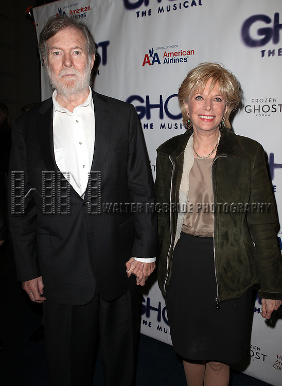 Lesley Stahl & Husband.attending the Broadway Opening Night Performance of 'GHOST' a the Lunt-Fontanne Theater on 4/23/2012 in New York City. © Walter McBride/WM Photography .