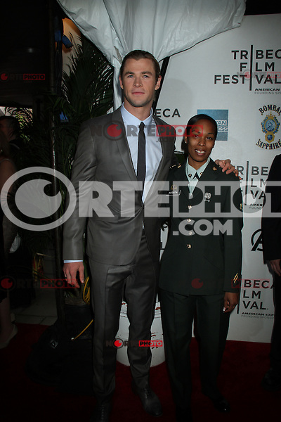 April 28, 2012 Chris Hemsworth attends the Closing  Night of the 2012 Tribeca Film Festival with Marvel' the Avengers at BMCC Tribeca Pac in New York City..Credit:RWMediapunchinc.com