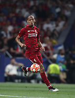 Liverpool's Fabinho in action during the UEFA Champions League final football match between Tottenham Hotspur and Liverpool at Madrid's Wanda Metropolitano Stadium, Spain, June 1, 2019. Liverpool won 2-0.<br /> UPDATE IMAGES PRESS/Isabella Bonotto