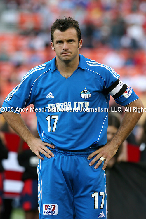 21 May 2005: Chris Klein. DC United defeated the Kansas City Wizards 3-2 at RFK Stadium in Washington, DC in a regular season Major League Soccer game. . .