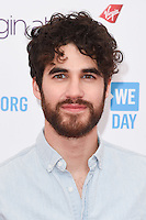 Darren Criss at WE Day 2016 at Wembley Arena, London.<br /> March 9, 2016  London, UK<br /> Picture: Steve Vas / Featureflash