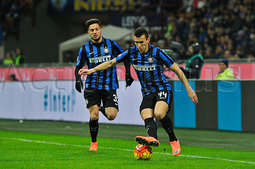 20.02.2016. Milan, Italy.  Ivan Perisic of FC Inter in action during the Italian Serie A League soccer match between Inter Milan and UC Sampdoria at San Siro Stadium in Milan, Italy.